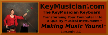 Key-Musician Logo, of Laeramin, LLC